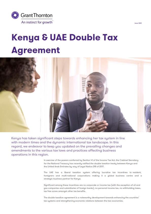 Grant Thornton Alert Kenya Uae Double Tax Agreement001g