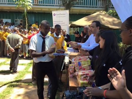 New Dawn Education Centre handing out stationery and food stuff